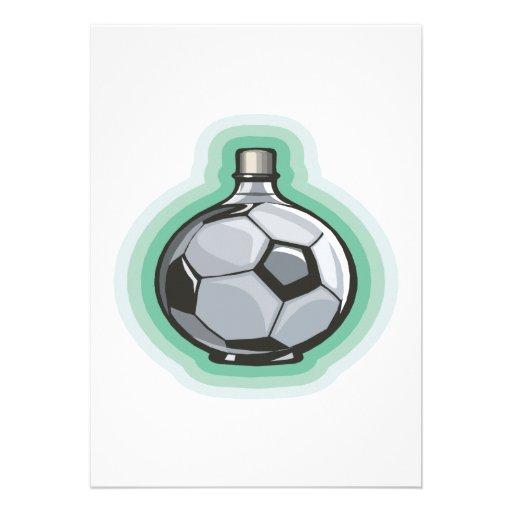 Frasco del fútbol invitaciones personales