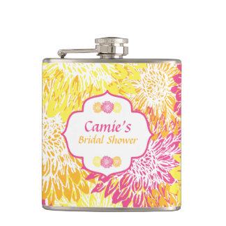 Frasco nupcial floral brillante de la ducha petaca