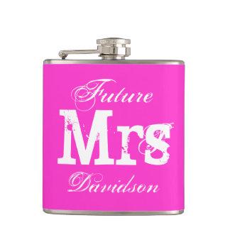 Frasco rosado de encargo de la bebida del boda petaca