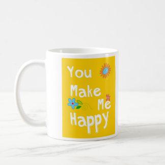 Frase de motivación de la tipografía - amarillo taza de café