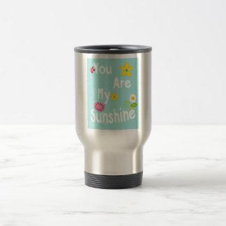 Frase de motivación de la tipografía - azul en col tazas de café