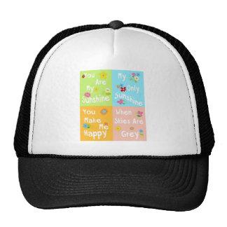 Frase de motivación de la tipografía - collage gorras