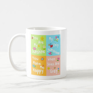 Frase de motivación de la tipografía - collage taza de café