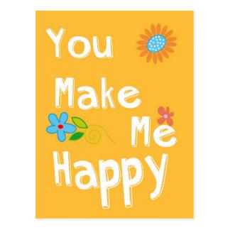 Frase de motivación de la tipografía - naranja tarjeta postal