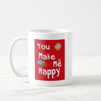 Frase de motivación de la tipografía - rojo taza de café