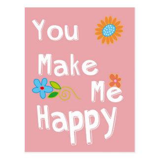 Frase de motivación de la tipografía - rosa tarjetas postales