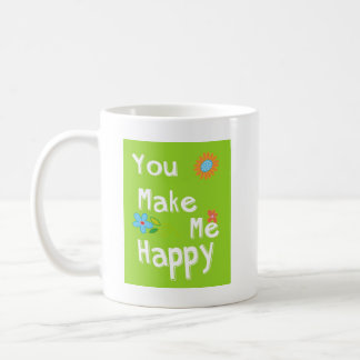 Frase de motivación de la tipografía - verde lima taza de café