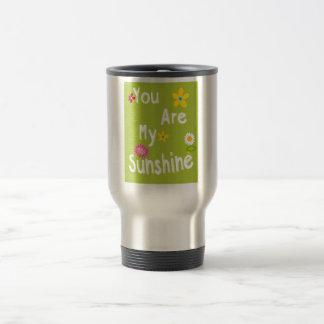 Frase de motivación de la tipografía - verde lima taza térmica