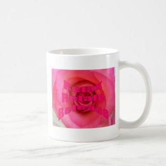 Frase de motivación e inspirada taza de café