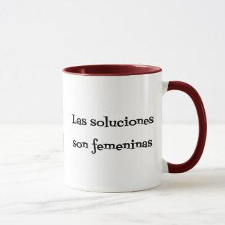 Frase española de los soluciones de los problemas taza
