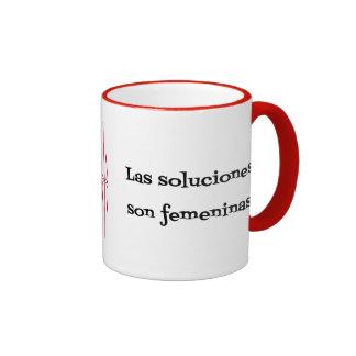 Frase española de los soluciones de los problemas taza de dos colores
