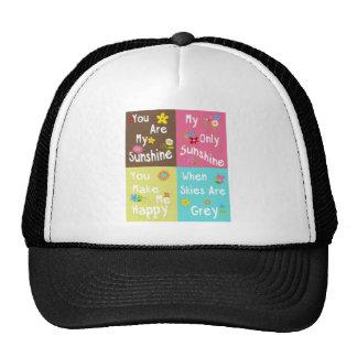 Frases de motivación de la tipografía - collage gorras de camionero