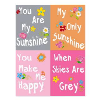 Frases de motivación de la tipografía - collage tarjetas postales