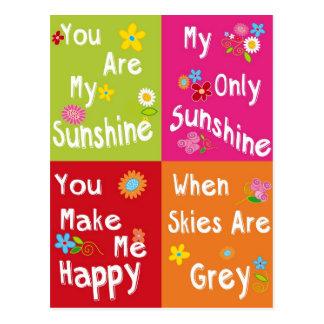 Frases de motivación de la tipografía - collage postales