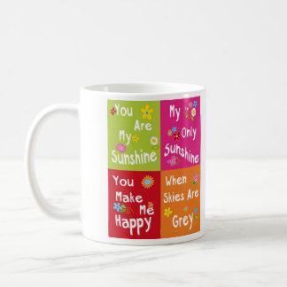 Frases de motivación de la tipografía - collage taza
