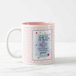 frases inspiradoras taza de café de dos colores