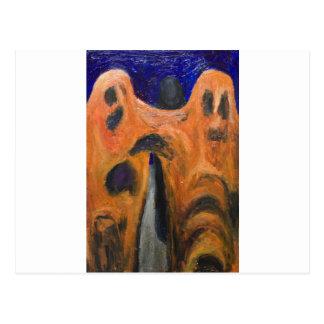 Fraternidad anaranjada (expresionismo de la distor tarjetas postales