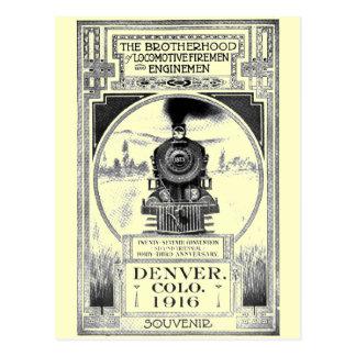 Fraternidad de bomberos locomotores y de maquinist tarjeta postal