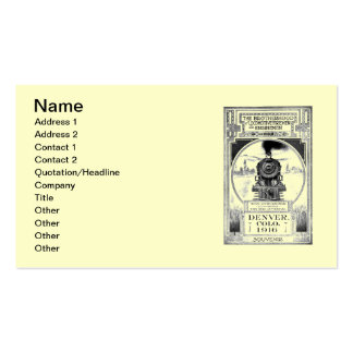 Fraternidad de bomberos locomotores y de plantilla de tarjeta de negocio