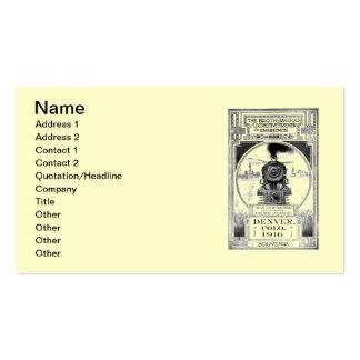Fraternidad de bomberos locomotores y de tarjetas de visita