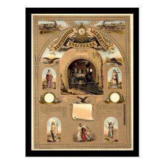 Fraternidad de ingenieros locomotores tarjetas postales