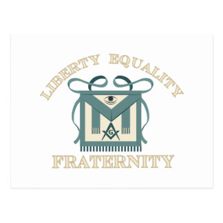 Fraternidad de la igualdad de la libertad del postal