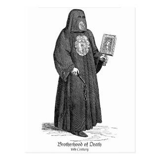 Fraternidad de la muerte tarjeta postal