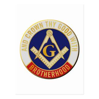 Fraternidad de los albañiles postal