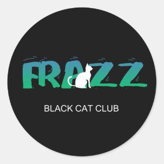¡FRAZZ! Pegatina del club del gato negro