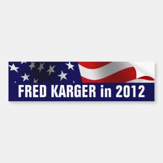 Fred Karger en 2012 Etiqueta De Parachoque