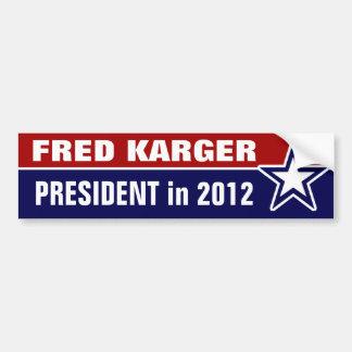 Fred Karger en 2012 Pegatina Para Coche