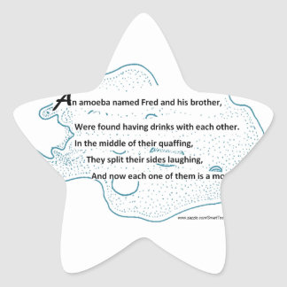 Fred la ameba - un poema de la ciencia de pegatina en forma de estrella