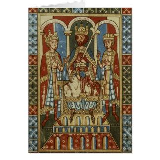 Frederick I con sus dos hijos Felicitación