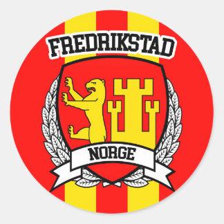 Fredrikstad Pegatina Redonda