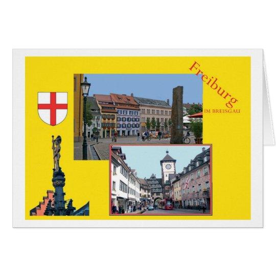 Freiburg en el máximo accidente previsible de puré tarjeta de felicitación