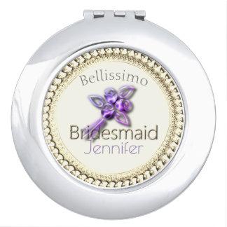 French_Bridesmaid_Monogram_Elegant-Rose-Cream-Gold Espejos Maquillaje
