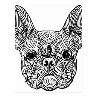 French Bulldog Mandala Postal