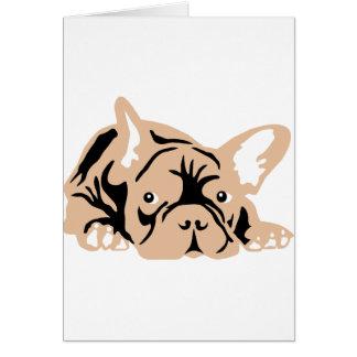 French Bulldog rose Tarjetón