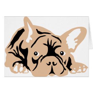 French Bulldog rose Tarjeta De Felicitación
