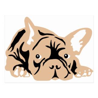 French Bulldog rose Postales