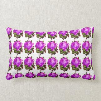 French_Spring_Floral_Violet-Rose_Lumbar_Accent Cojín Lumbar