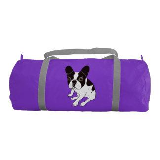 Frenchie de varios colores encapuchado doble lindo bolsa de deporte