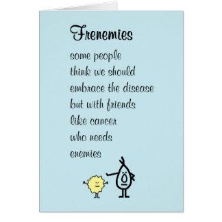 Frenemies - un mejor pronto poema de la sensación tarjeta