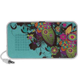 frenesí enrrollado de la flor del vintage iPod altavoz