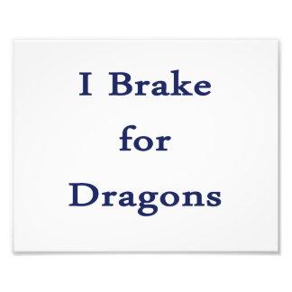 Freno para el azul de los dragones d impresiones fotograficas
