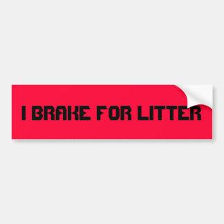 Freno para la litera. mensaje del parachoque del c pegatina para coche