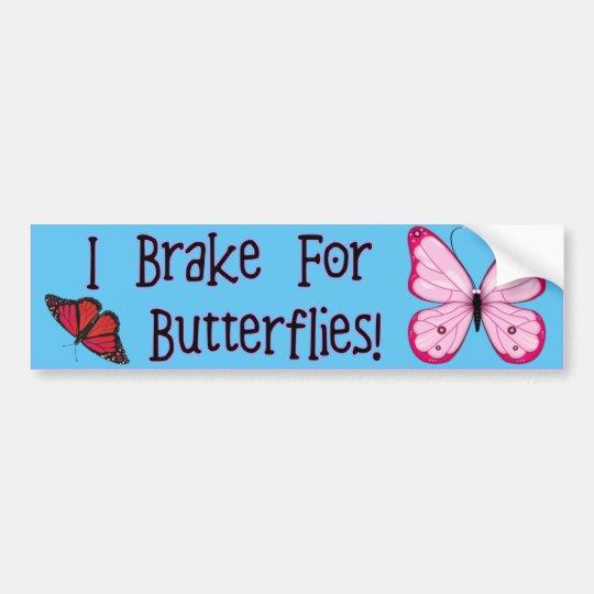 ¡Freno para las mariposas! Pegatina Para Coche