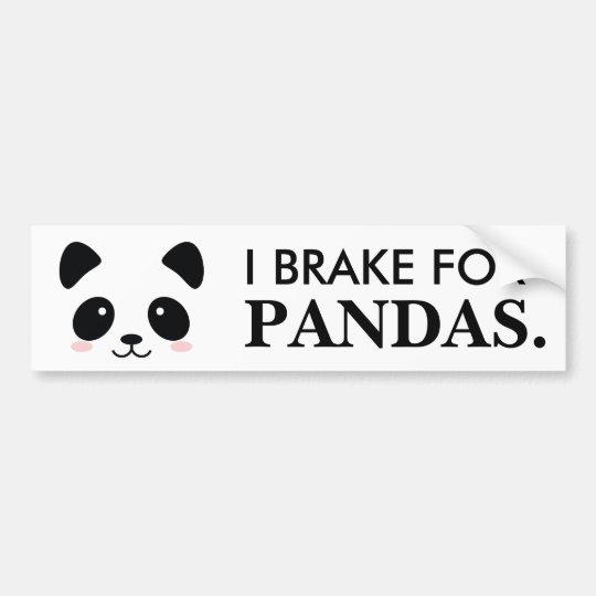 Freno para las pandas pegatina para coche