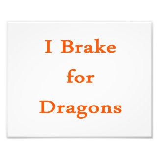 Freno para los dragones anaranjados impresiones fotograficas