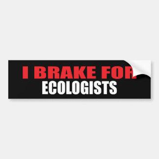 Freno para los ecologistas pegatina para coche
